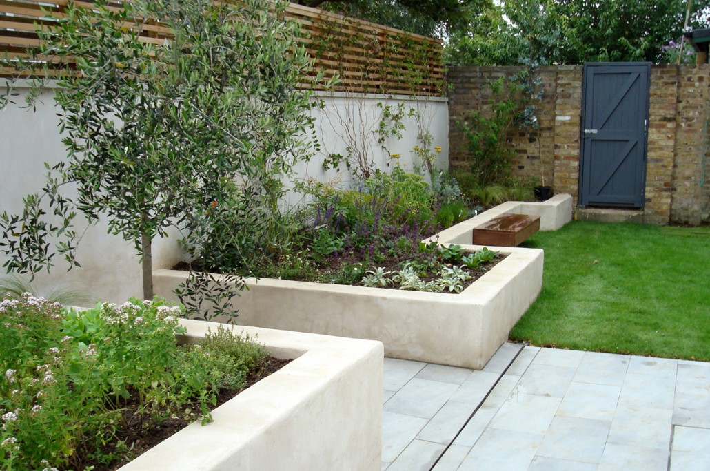 Modern low medium maintenance garden landscaping south for Medium garden design