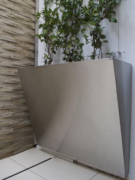 Bespoke tapered design stainless steel planter