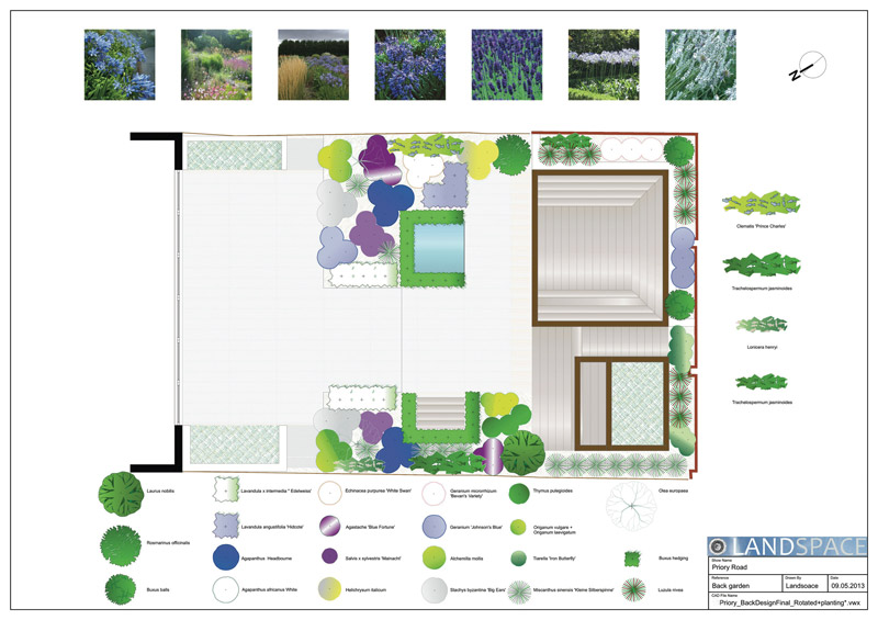 Priory Road Planting Plan