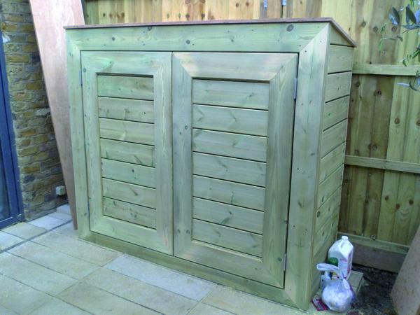 Softwood garden storage cupboard