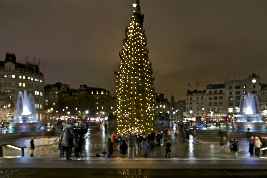 The Christmas tree lights at Trafalgar Square are due to be lit on ...