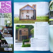 Home and Garden magazines front cover September 2016 issue and page featuring Landspace design's award winning Priory road's bespoke children's den, designed and built by Landspace.