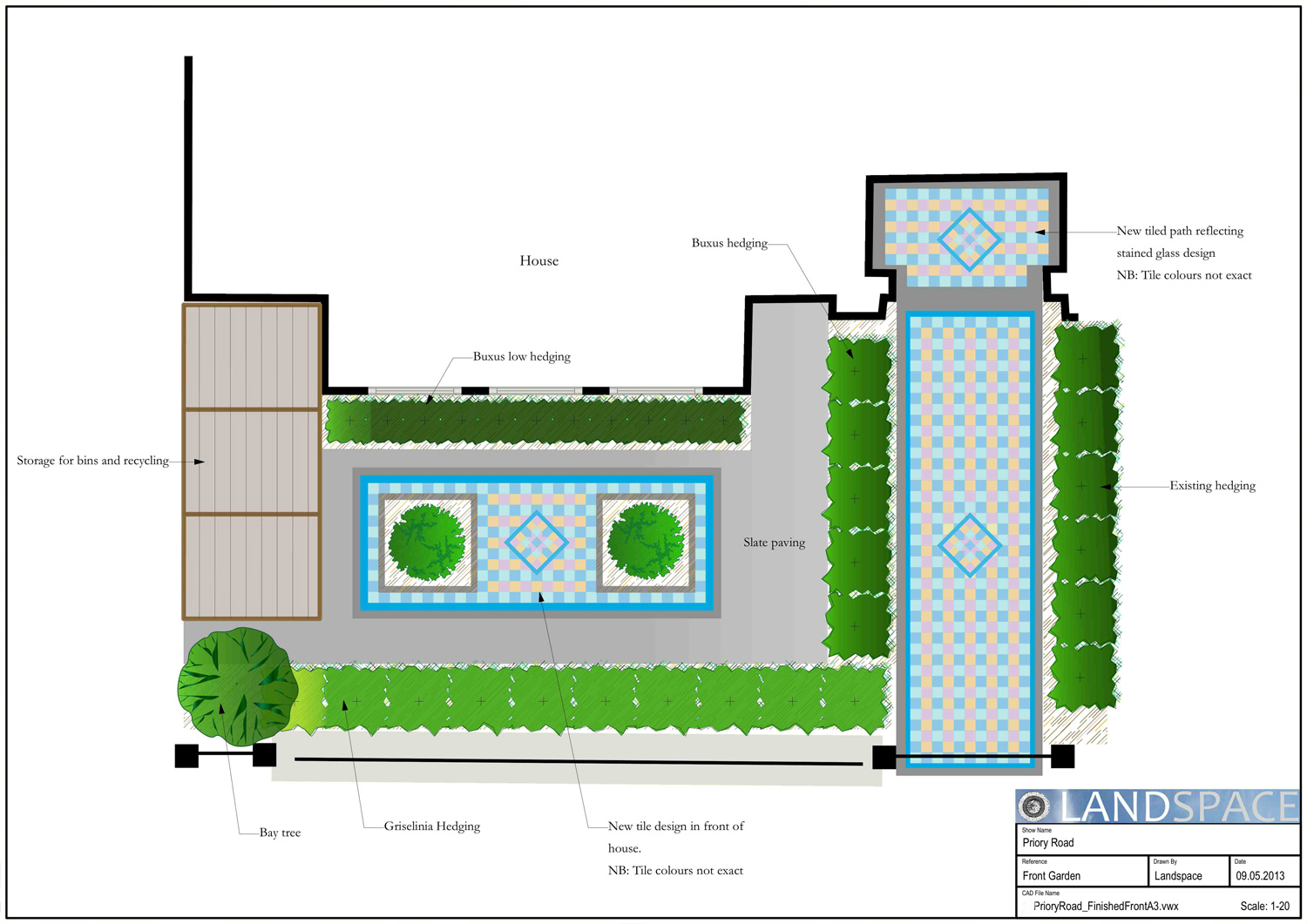 Priory Road Front Garden Design