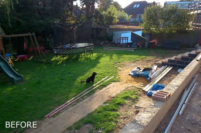 Before photo of Large Garden - Albion Hill, Loughton, IG10