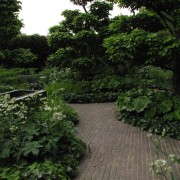 Clay pavers Garden design Chelsea 2008
